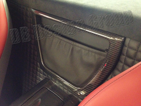 Mercedes Benz SLS AMG rear storage pocket frame trim