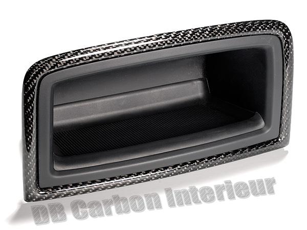Porsche 955 Cayenne Carbon Mittelkonsole Ablagefach Verkleidung Fond Fach Blende Konsole Carbonteile