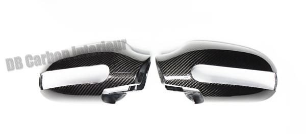 Mercedes Benz CLK W208 carbon side mirror housings mirror cap covers exterior carbon parts