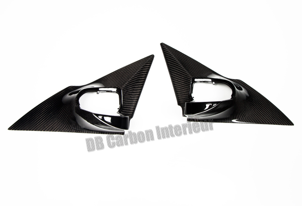 Mercedes Benz CLK W208 carbon side mirror housings triangle covers mirrors caps exterior carbon parts