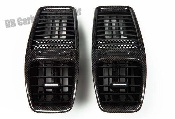 Porsche 981 carbon Mitteldüsen Luftdüse Armaturenbrett Blende Lüftung Verkleidung  Ausströmer Carbonteile