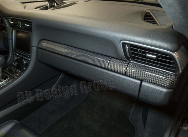 Porsche 991.2 carbon Zierleiste Getränkehalter Armaturenbrett Dekor Leiste Interieur Verkleidung Instrumententräger Carbonteile