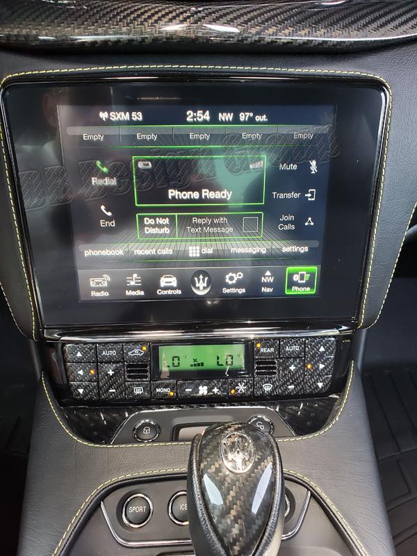 Maserati Quattroporte carbon climate control unit a/c switch clima button trim panel interior carbon parts