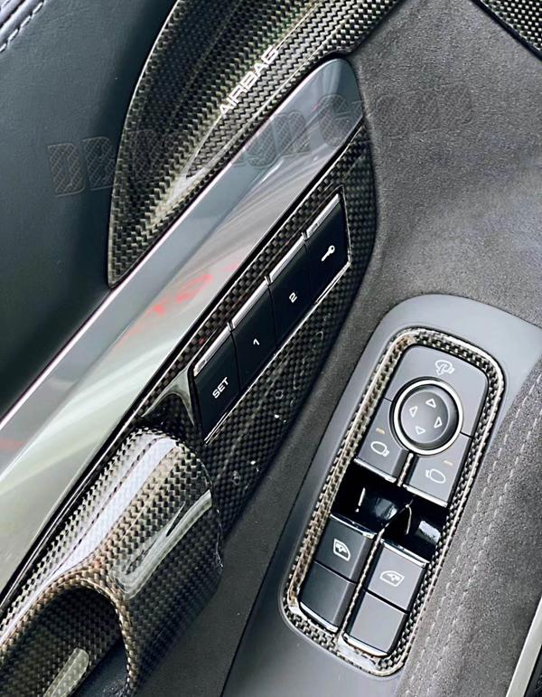 Porsche 911 991.2 Carbon Türgriff Blende Türöffner Verkleidung  Sitz Memory Türverkleidung Carbonteile