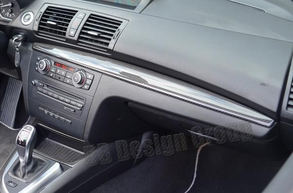 BMW 1 E81, E87, E87LCI, E82, E88 carbon Zierleiste Armaturenbrett Dekor Verkleidung Beifahrer Seite