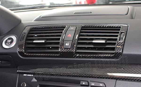 BMW 1 E81, E87, E87LCI, E82, E88 carbon side air vent dashboard trim air ventilation cover