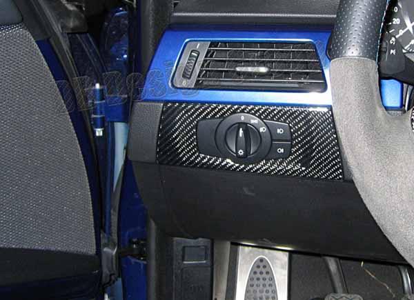 BMW 3 E90, E91 carbon Zierleiste Armaturenbrett Verkleidung Lichtschalter Dekor Blende