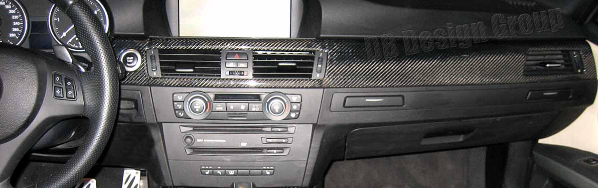 BMW 3 E90, E91 carbon Zierleiste Armaturenbrett Verkleidung Luftdüsen Dekor Blende
