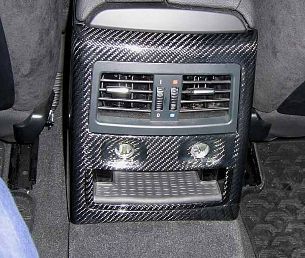 BMW 3 E90, E91 carbon Konsole hinten Verkleidung Luftdüse Fond