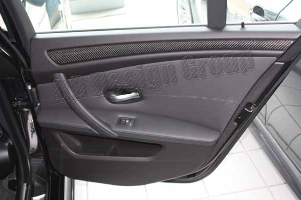 BMW 5 E60 E61 carbon door panel trim linings cover strips