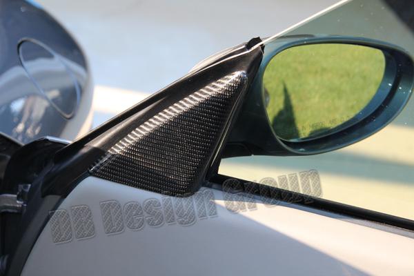 Porsche 996 carbon Spiegel Dreiecke Verkleidungen innen Blende Spiegelverstellung Türverkleidung