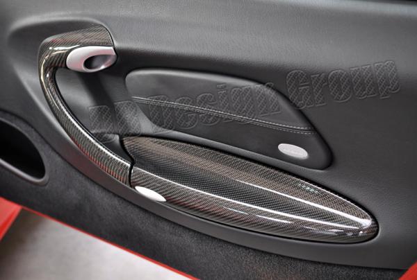 Porsche 996 carbon Deckel Ablagefach Türverkleidung Blende Armlehne
