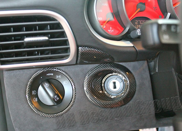 Porsche 997 carbon trim lining cockpit instrument cluster strips