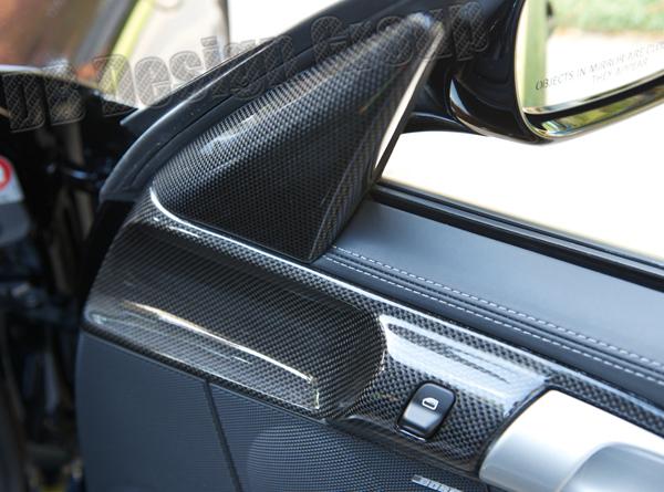 Porsche 997.2 carbon interior side mirror triangle trim mirror adjustment cover