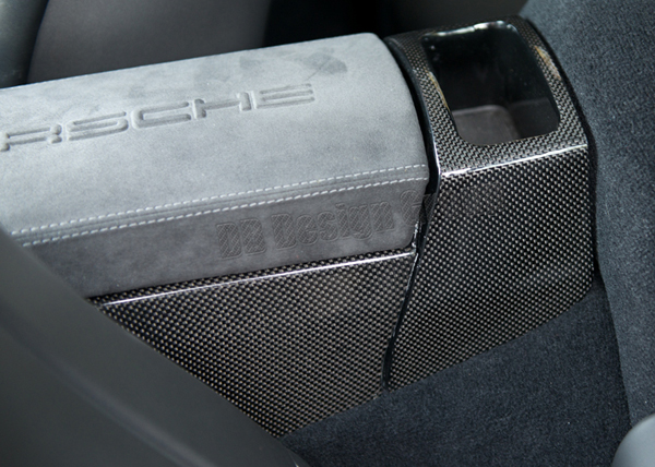 Porsche 997.2 carbon center console storage box console rear trim