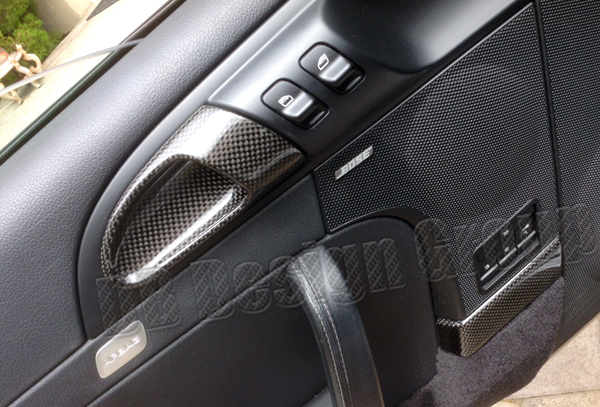 Porsche 997.2 carbon door panel trim lining