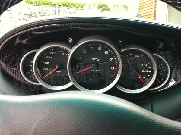 Porsche 996 carbon Cockpit Kombiinstrument Verkleidung Tacho Abdeckung Rahmen Armaturenbrett