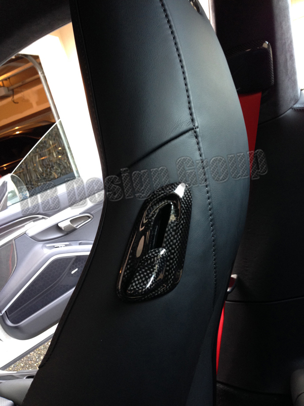 Porsche 991 carbon seat release handles seat back adjusting knob