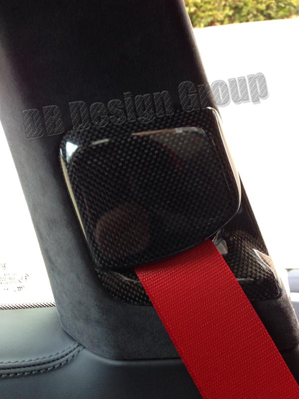 Porsche 991 carbon Gurt Verkleidung B Säule Sicherheitsgurt Rosette Blende