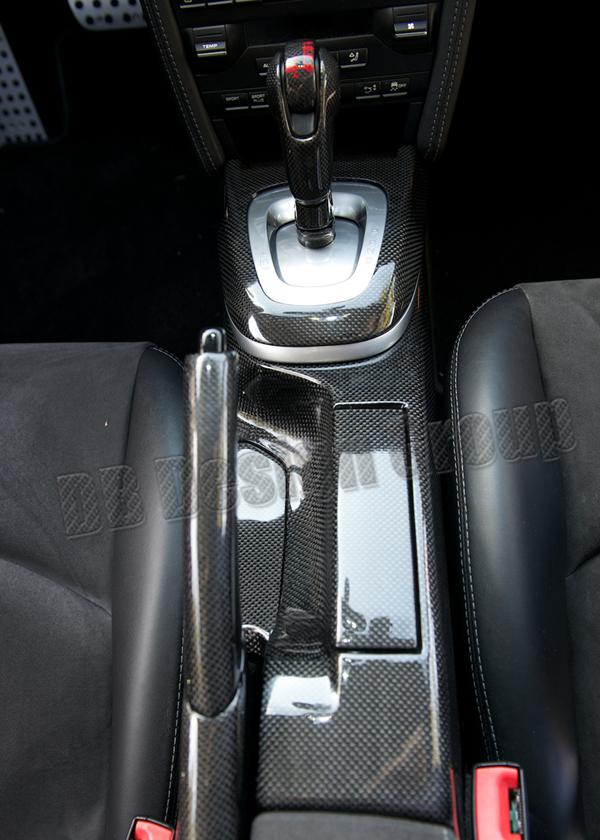 Porsche 997.2 carbon PDK shift knob trim gear knob surround console automatic shifter cover