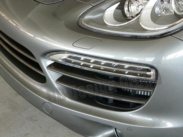 Porsche 958 carbon Frontstoßstange Lufteinlass Grill Streben Lamellen