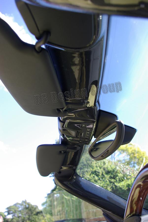 Porsche 981 carbon Verkleidung Sonnenblenden Dachhimmel Blende Leiste Windschutzscheibe Rahmen