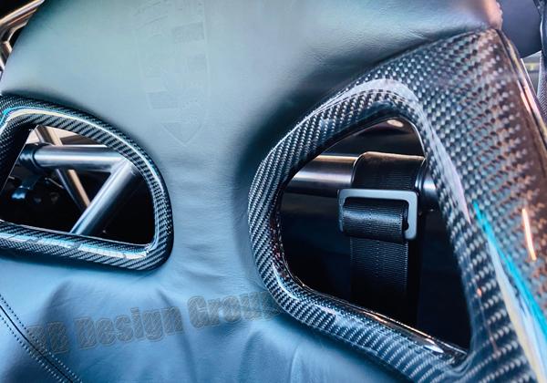 Porsche 996 carbon race seat trim bucket seat belt cover