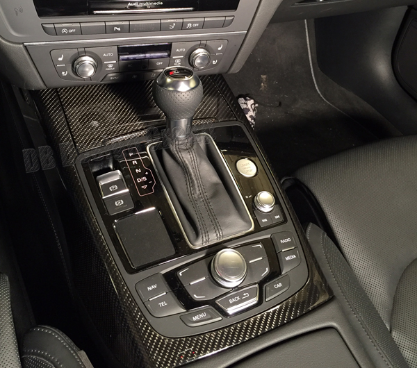 Audi A7 4G carbon center console trim frame ashtray cover