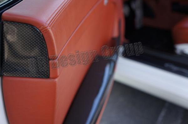 Porsche 997 carbon door panel end caps airbag trim
