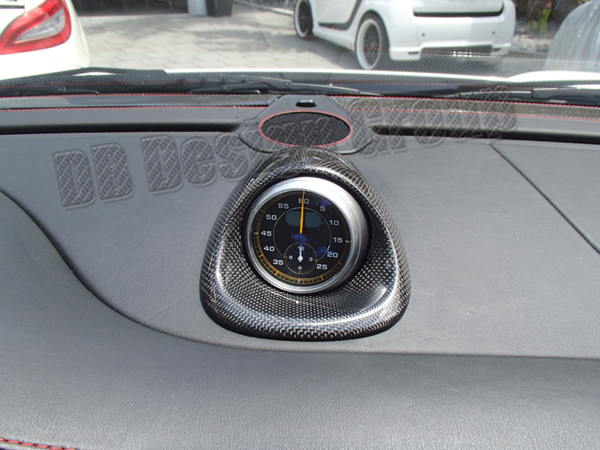 Porsche 997.2 carbon sport chrono clock trim housing dashboard cover