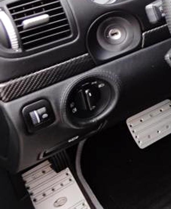 Porsche 955 Cayenne carbon dash trim lining key ignition surround cover