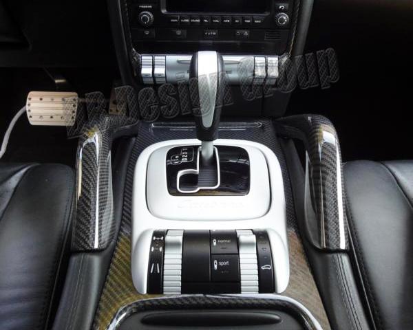 Porsche 955 Cayenne carbon center console grab handles trim