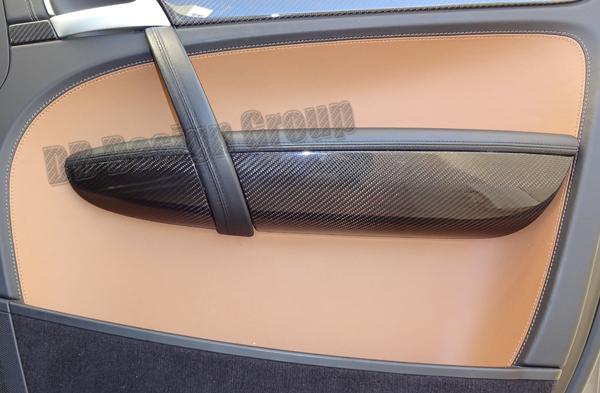 Porsche 957 Cayenne carbon Türverkleidung Leisten Armablage Verkleidung Zuziehgriff Blende