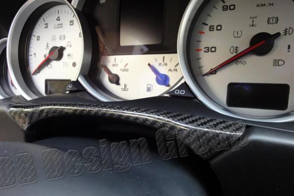 Porsche 955 Cayenne carbon bridge under instrument cockpit trim cluster surround dash