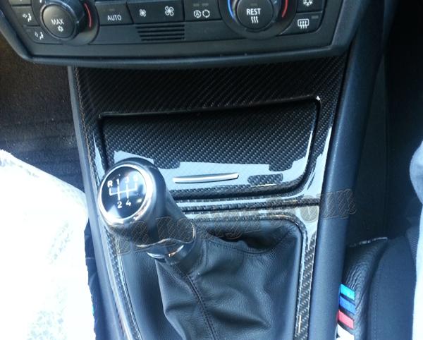 BMW 1 E81, E87, E87LCI, E82, E88 carbon Konsole Verkleidung Aschenbecher Ablagefach Umrandung Mittelkonsole