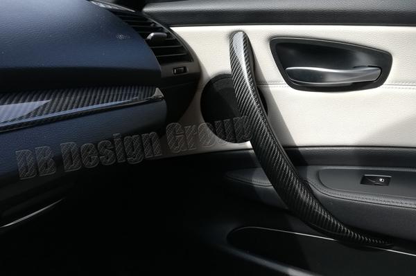 BMW 1 E81, E87, E87LCI, E82, E88 carbon Zuziehgriffe Türverkleidung Abdeckung Blende Türgriff Öffner