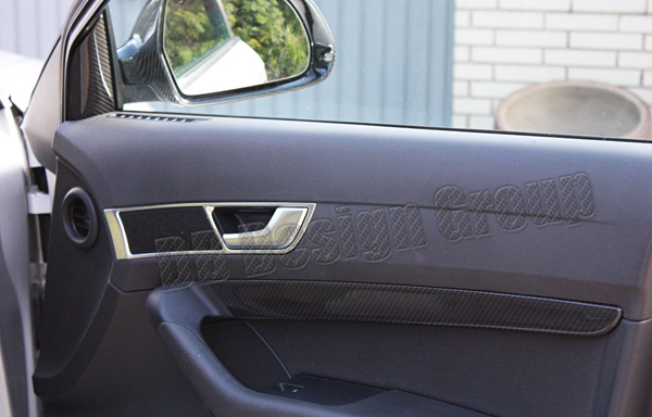 Audi A6 4F carbon trim lining door panel cover