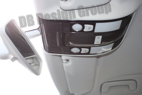 Audi A6 4F carbon trim interior roof light switch cover