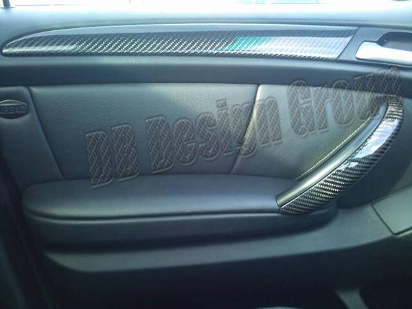 BMW X5 E53 carbon door panel trim linings