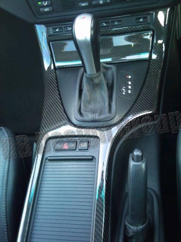 BMW X5 E53 carbon ashtray storage box lid center console trim