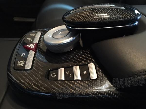 Mercedes Benz S W221 carbon car phone box center console armrest trim