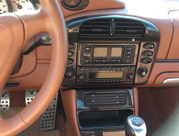 Porsche 996 carbon Klimabedienteil Rahmen Verkleidung Klima Anlage Blende Konsole
