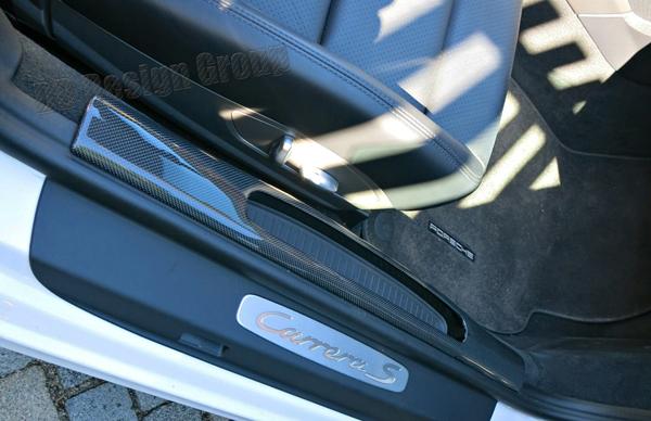 Porsche 991 carbon Einstiegsleiste Verkleidung Ablagefach Einstieg Regenschirm Ablage Blende
