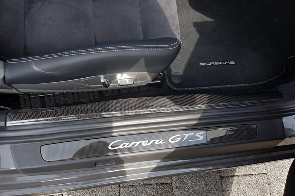 Porsche 991.2 carbon door sill cover entry trim lining interior side skirt