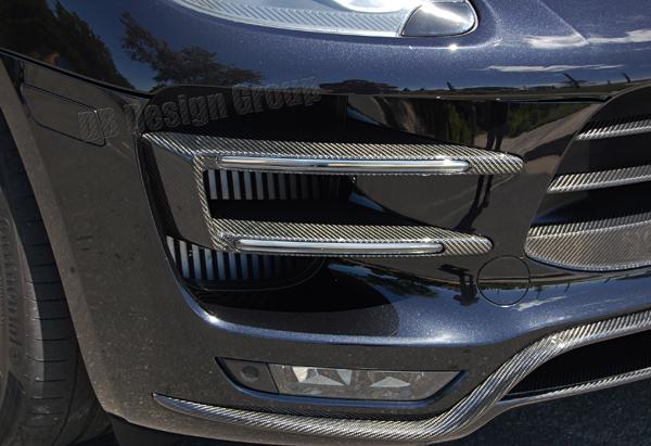 Porsche 95B Macan carbon DRL Blinker Gehäuse Lufteinlass Lamellen Frontstoßstange