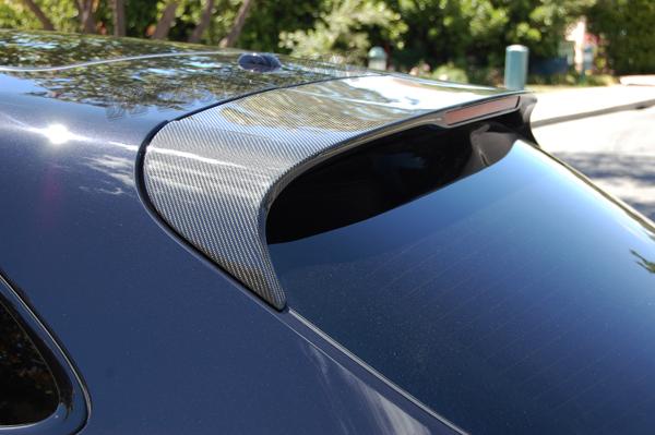 Porsche 95B Macan carbon roof spoiler 3rd brake light trim wing