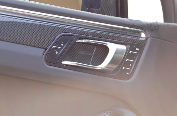 Porsche 95B Macan carbon door pull covers handle trim door panel