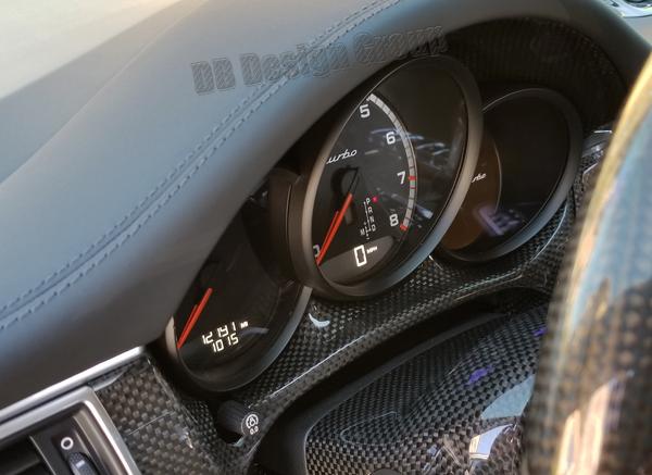 Porsche 95B Macan carbon bridge instrument cluster speedometer surround dashboard trim steering column