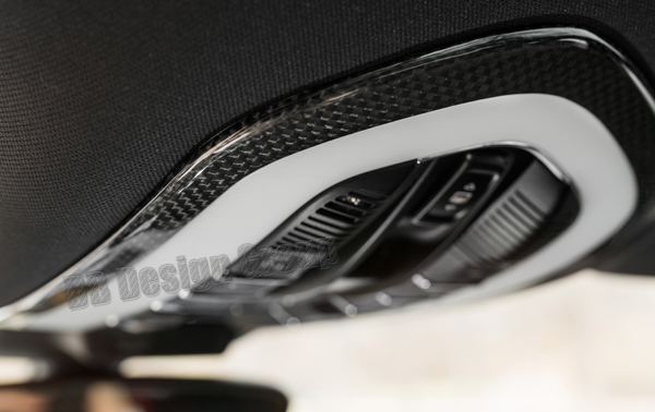 Porsche 95B Macan carbon interior roof console surround interior light switch trim