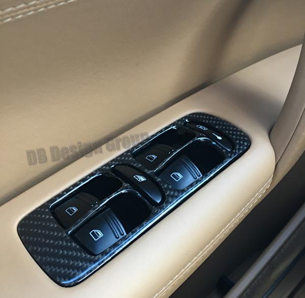 Porsche 957 Cayenne carbon Umrandung Fensterheber Zentralverriegelung Schalter Türverkleidung Blende
